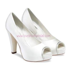 Scarlet Platform Bridal Shoes